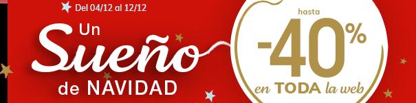 Un sueño de navidad! hasta -40% en TODA la web (excepto marcas)