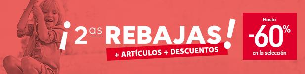 ¡2ªs REBAJAS! + ARTÍCULOS + DESCUENTOS > Hasta -60% en la selección