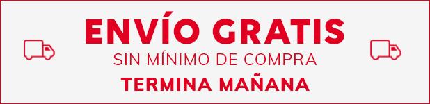 ENVÍO GRATIS SIN MÍNIMO DE COMPRA TERMINA MAÑANA