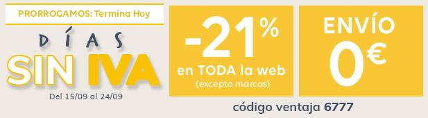 Prolongamento - Días sin IVA -21% + envío 0€