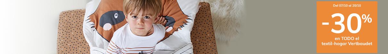-30% en TODO el textil-hogar Vertbaudet
