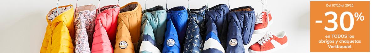 -30% en TODOS los abrigos y chaquetas Vertbaudet