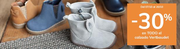 -30% en todo el calzado Vertbaudet