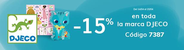 -15% en toda la marca Djeco código 7387