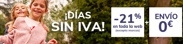 DÍAS SIN IVA -21% en toda la selección (excepto marcas) + Envío 0€